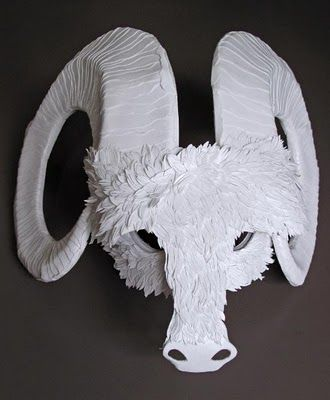 If It's Hip, It's Here: Beautiful Cut Paper Animal Masks by Flurry & Salk.
