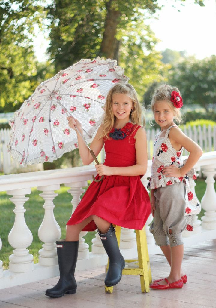 Violette Field Threads Fiona Dress and Top Girls Paper Sewing Pattern