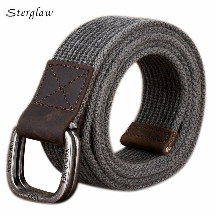 Double loop buckle cotton canvas belt Men's pas taktyczny 2017 Young students jeans belt juvenile a gift for the new year U003