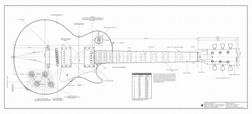 gibson les paul headstock template - les paul sg double cut special pdf guitar templates