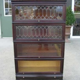 Antique and Vintage Furniture for Sale - Mahogany Stacking Bookcase - Leaded Glass