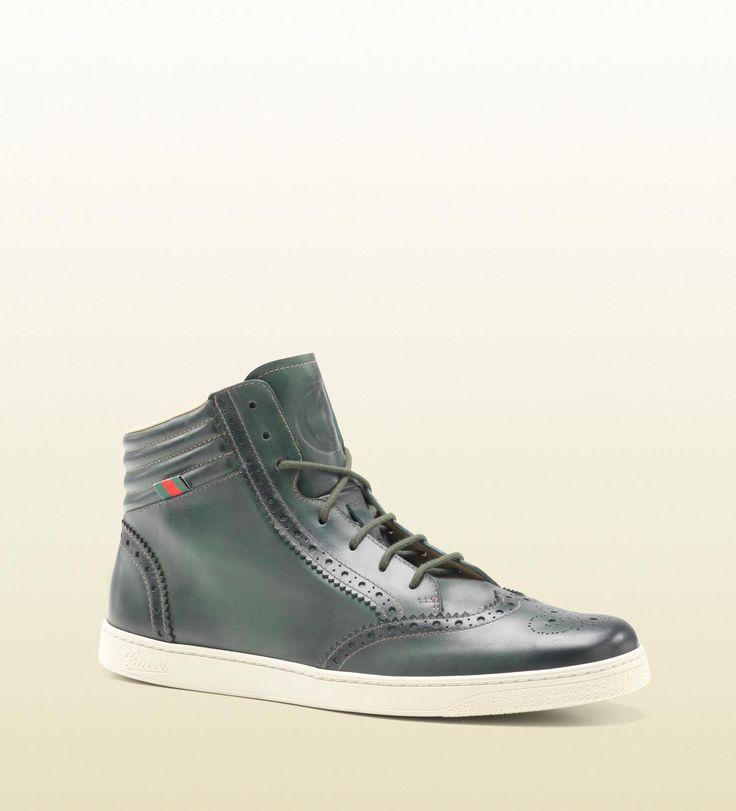 Brogue sneaker dark green (The One)