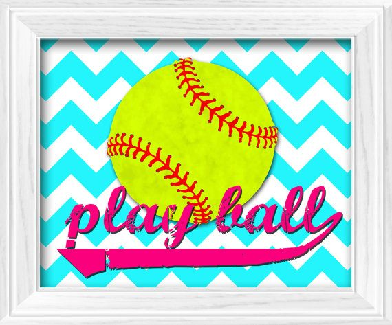 Girls+Softball+theme+bedroom+Chevron+Hot+Pink+by+LostSockDesigns,+$10.00