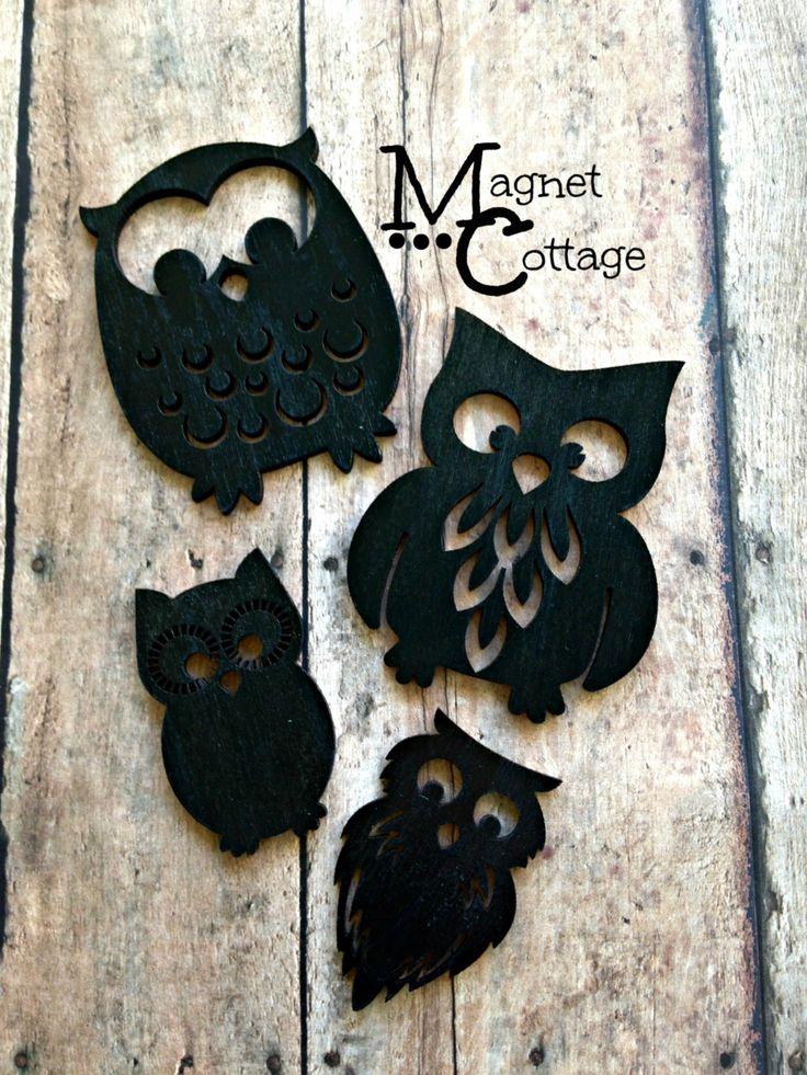 Magnets, owls, decorative owls, housewares, fridge magnets, refrigerator magnet, locker magnet, baby nursey, SKU Owl01
