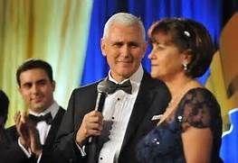 Mike Pence  & wife Karen at the Inaugural Ball.