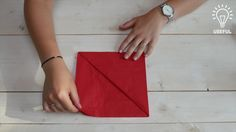 Folding napkins to create a pocket for silverware is a simple way to dress up your dinner table. This video shows an easy napkin folding technique.