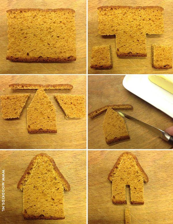 zelf een koekhuisje maken voor aan de rand van een kopje