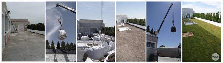 Proyecto para una terraza vegetada sobre loza de hormigón, para Laboratorio Biopharma, en el Parque Industrial de Pilar.  El proyecto consistió en la impermeabilizacion de la loza, sistema drenante y antiraíces, preparación del sustrato de asiento, sistema de riego y césped.
