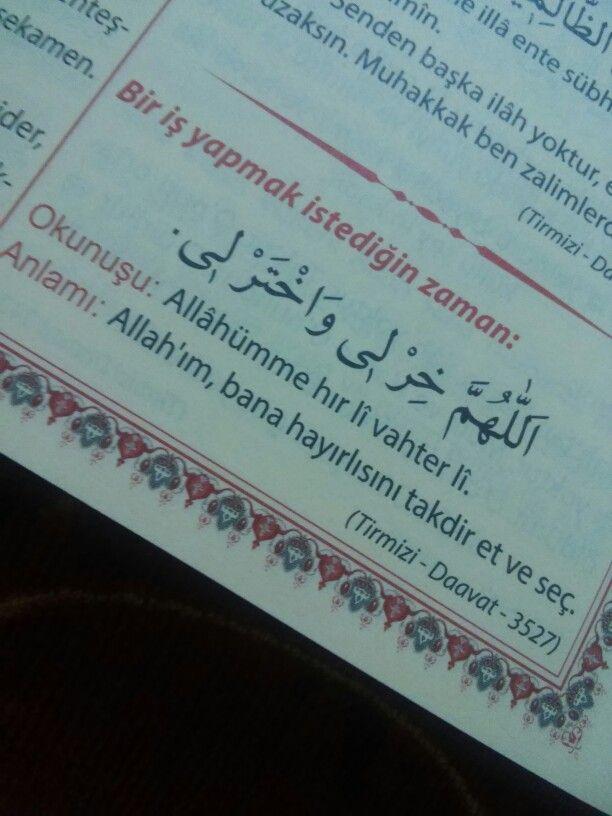 Allahim bana  hayirlisini takdir et ve sec