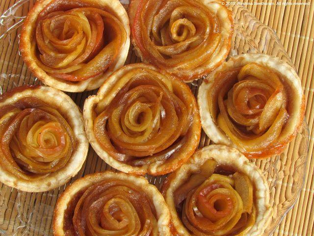 Gorgeous mini rose apple tarts. Good with ice cream or whipped cream.