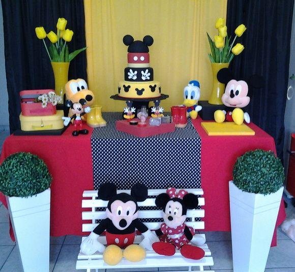 Kit Decoração Mickey   Decoração & Ação   Elo7