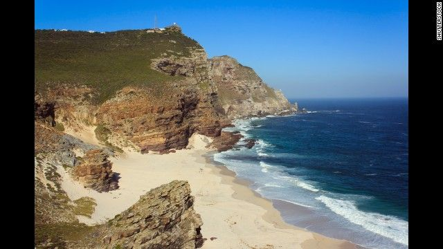 The wild South African cape that includes secluded Dias Beach was called the Cape of Storms by explorer Bartolomeu Dias in 1488. The beach is in Cape Point Nature Reserve. There's a scenic hike down to the shore, but the wild surf makes swimming dangerous.