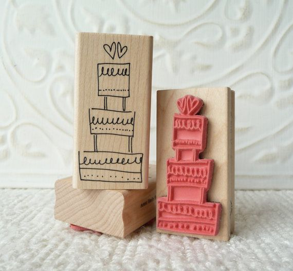 Wedding Cake Rubber Stamp From Oldislandstamps Wedding Cakes And