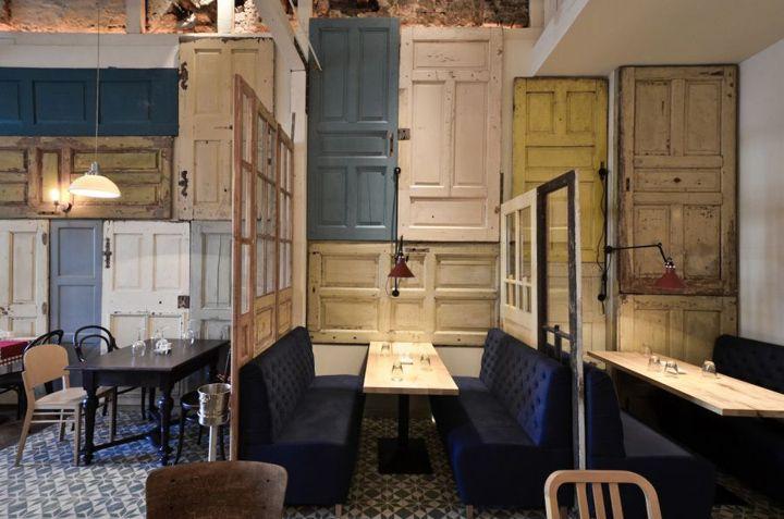 Bon Restaurant, Romania. #reused #repurposed #doors