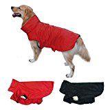 Unho Wasserdichte Hundemantel Jacke Kleidung outdoor Winter Warm Gepolsterte Fleece Brustschutz, reflektierende Paspeln für Nacht Sicherheit alle Größe von XS bis XXL