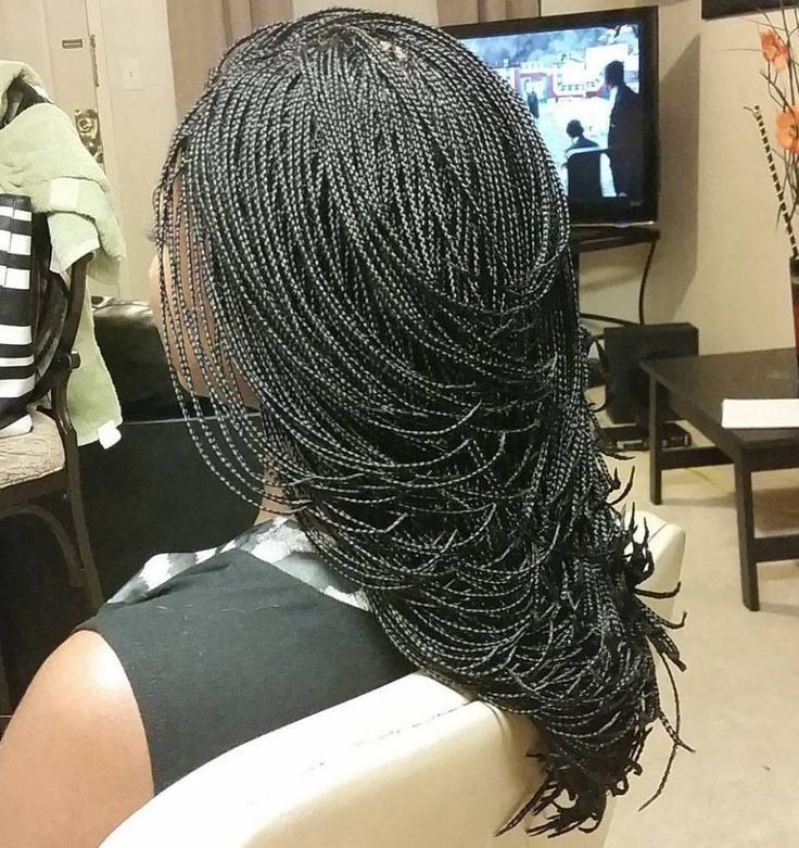 40 Ideas Of Micro Braids And Invisible Braids Hairstyles
