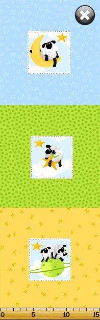 LEWE the EWE  Sheep  100 Cotton Fabric  Pillow PANEL by JustForFun, $4.50