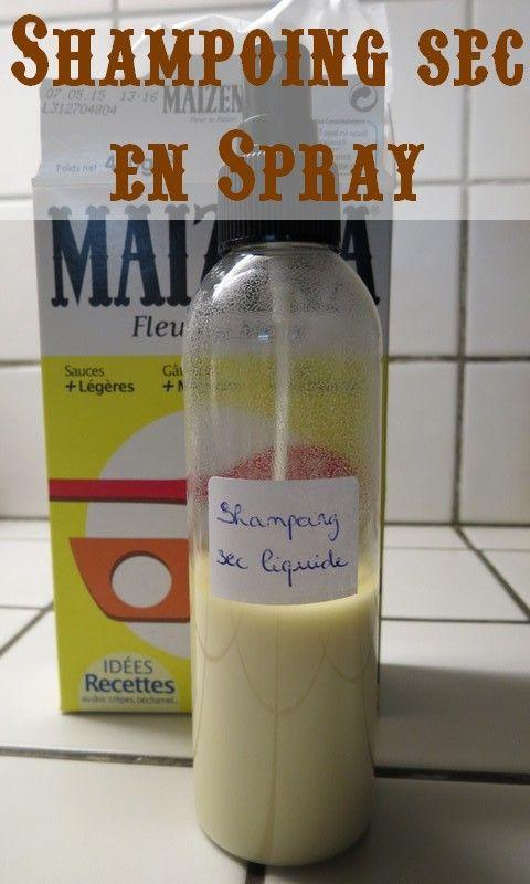 """Shampoing sec """"liquide"""" avec deux ingrédients"""