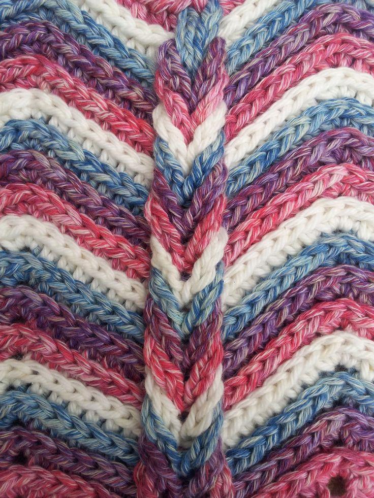 Felted Button - Colorful Crochet Patterns: ::Rolling Ridge Blanket Crochet Pattern::