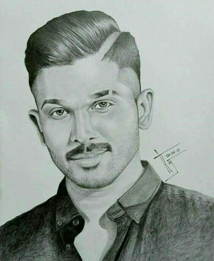 Pin By Manasa K On Hearts Breaking Allu Arjun Pencil Drawing Images Pencil Sketch Portrait Art Drawings Sketches Pencil