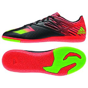 adidas   Lionel Messi  15.3 Indoor Soccer Shoes (Black/Red)