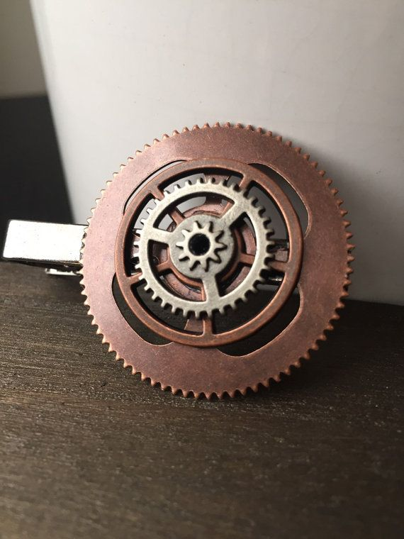 Gear Tie Clip or Steampunk Tie Clip Steampunk by ArcanumByAerrowae