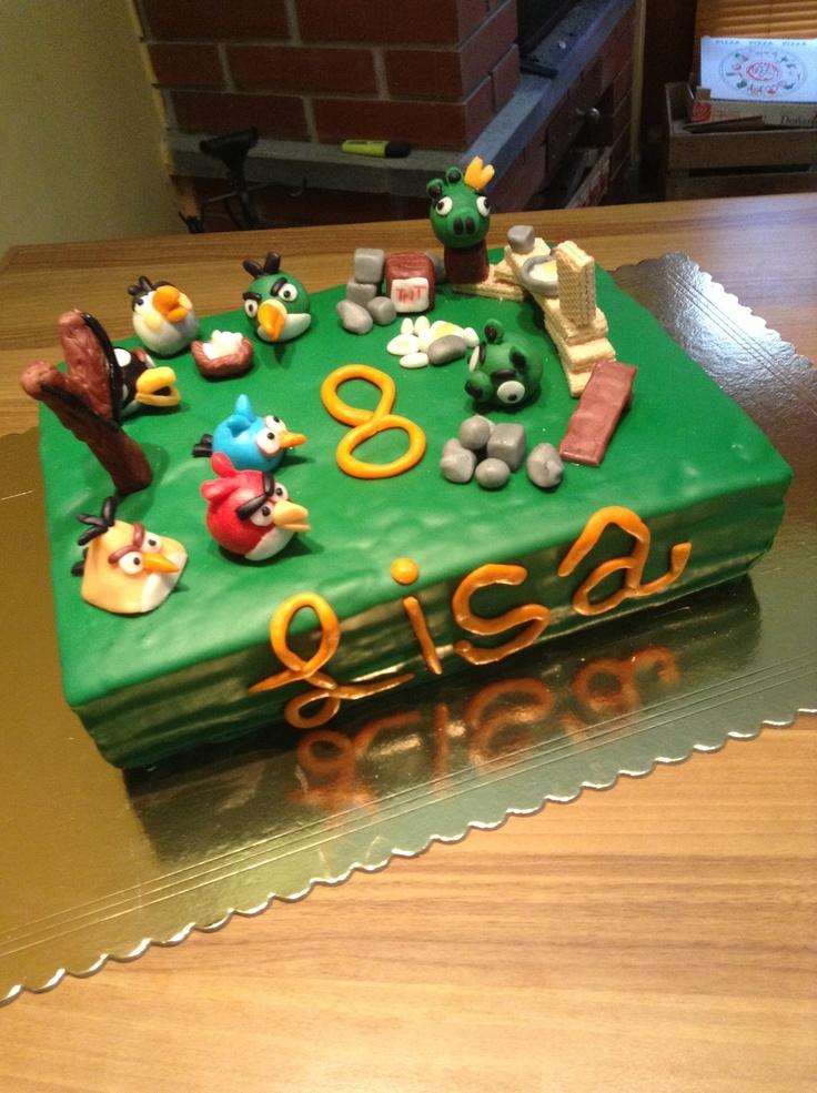 Lisa 8 years #angrybirds cake #kidscakes
