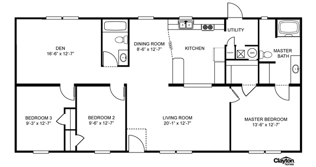 1000 images about mobile home 3 and 4 bedrooms on - Clayton homes terminator 4 bedroom ...