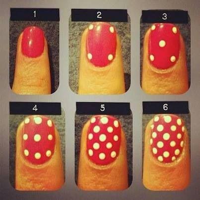 Polka dot nail tutorial...this was sooo helpful i had to pin it!