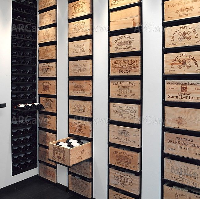 STORE ROOM SHELVING................Wine Cellar Drawers....how awesome