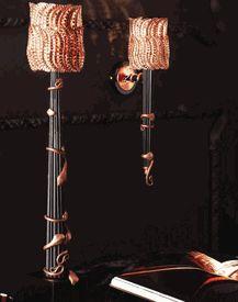 """Signature Collection: 35 """"Statuesque Copper Cobra abajur Coluna * Preços por Cotação"""
