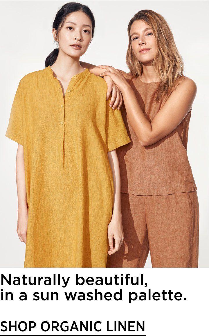 Washed Organic Linen Delave Mandarin Collar Shirtdress In 2020 Organic Linens Shirt Dress Style Mandarin Collar