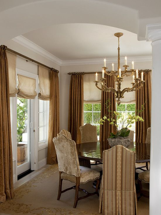Dining Room Draperies And Window Treatments Design Pictures Remodel Decor Ideas