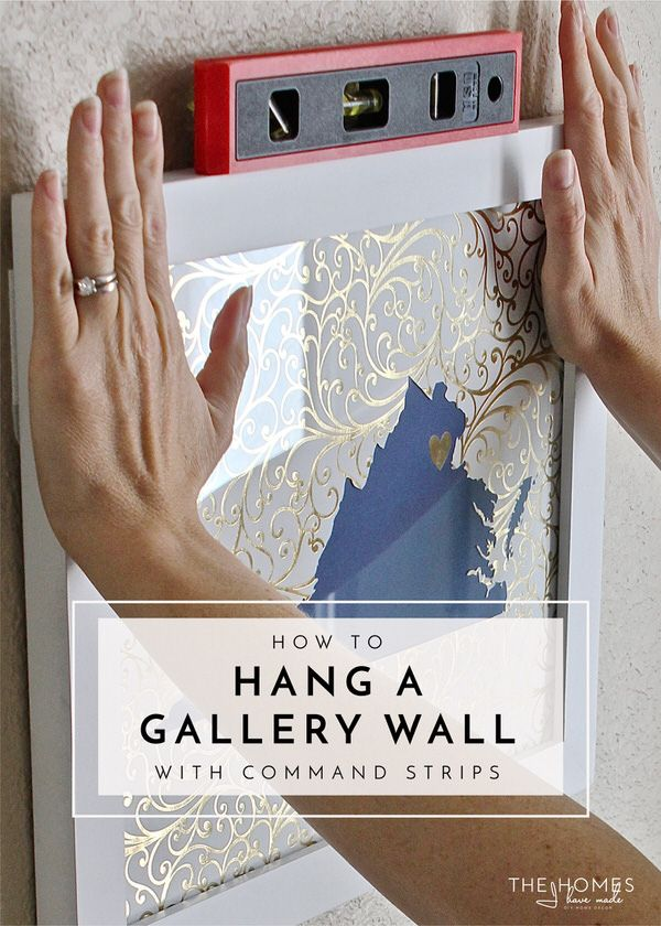 How To Hang A Gallery Wall With Command Strips Hanging