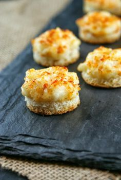 Parmesan Onion Canapés. So easy and soooo good. My momma used to make something just like this when I was little so you know it's tried and true!