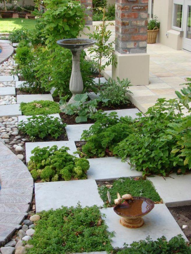 diseño de jardín con hierbas aromáticas