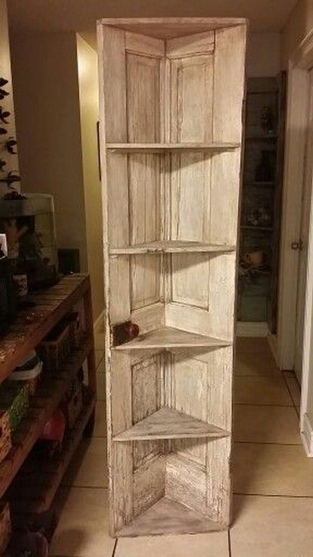 36 Design Models Corner Shelves Very Convenient 21 In 2020 Diy Door Diy Corner Shelf Barn Door Decor