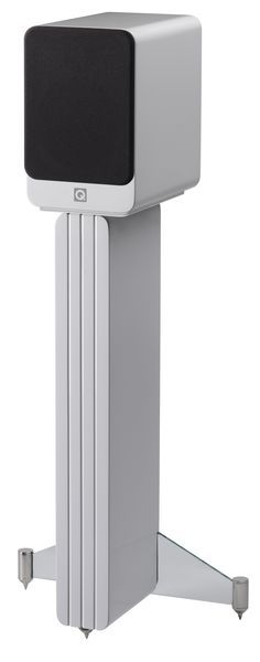 Here are the award winning Q Acoustics Concept 20 speaker and stand finished in white