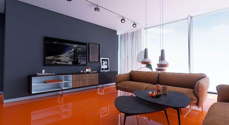 ArchViz for Virtual Reality –  Living Room Penthouse Munich | Architekturvisualisierung für Virtual Reality – Wohnzimmer Penthouse München | raumdichter