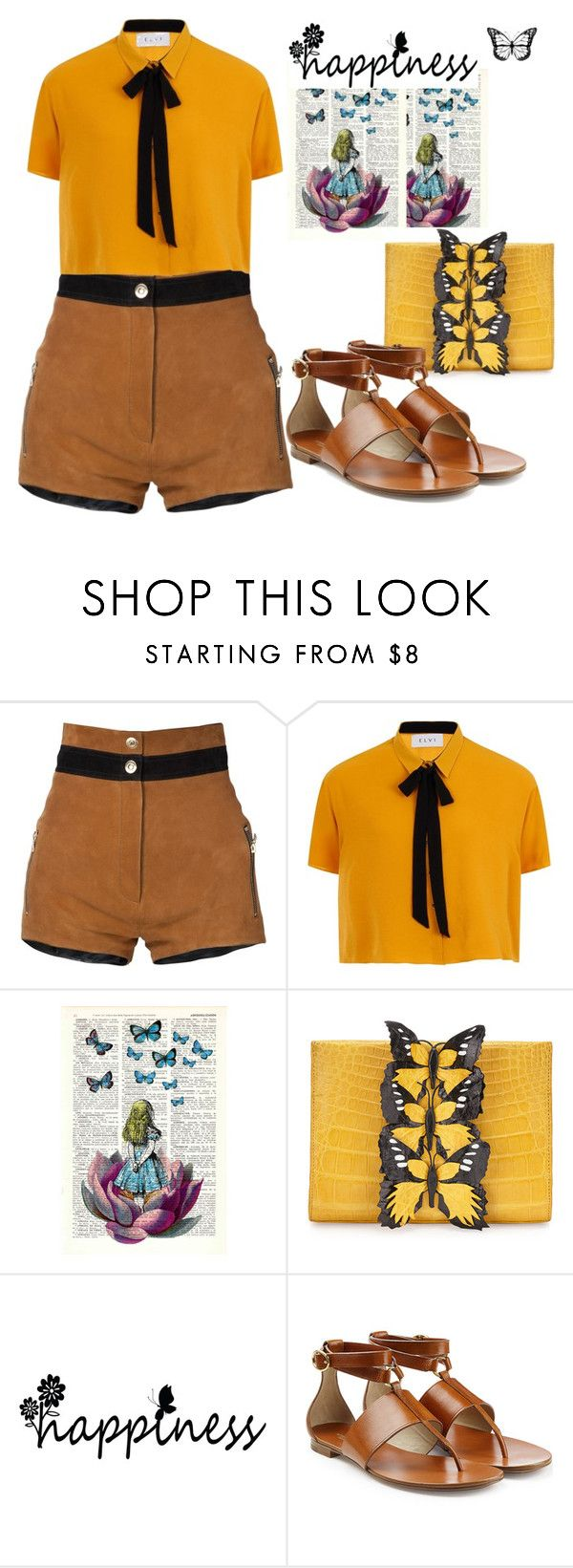 """""""Summer outfit 3 (Sunday Bbq)"""" by gladys-michelle-appleseed ❤ liked on Polyvore featuring Beau Souci, Elvi, Nancy Gonzalez and Michael Kors"""