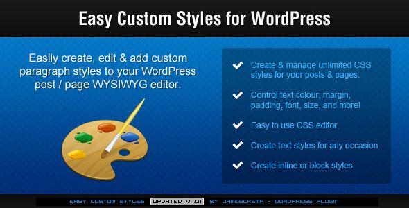Easy Custom Styles For WordPress