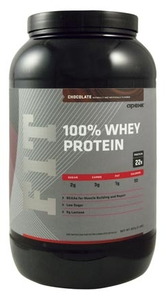 Apex FIT 100% WHEY Chocolate - 2 lbs - So far the best tasting protein powder I've found. Very low carb (2g) and high protein (22 g) per serving.