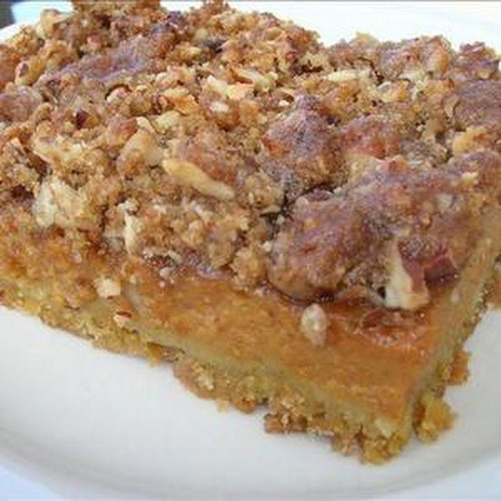 Pumpkin Pie Bars Desserts: Pumpkin Pie Dessert Squares Recipe Desserts With Yellow