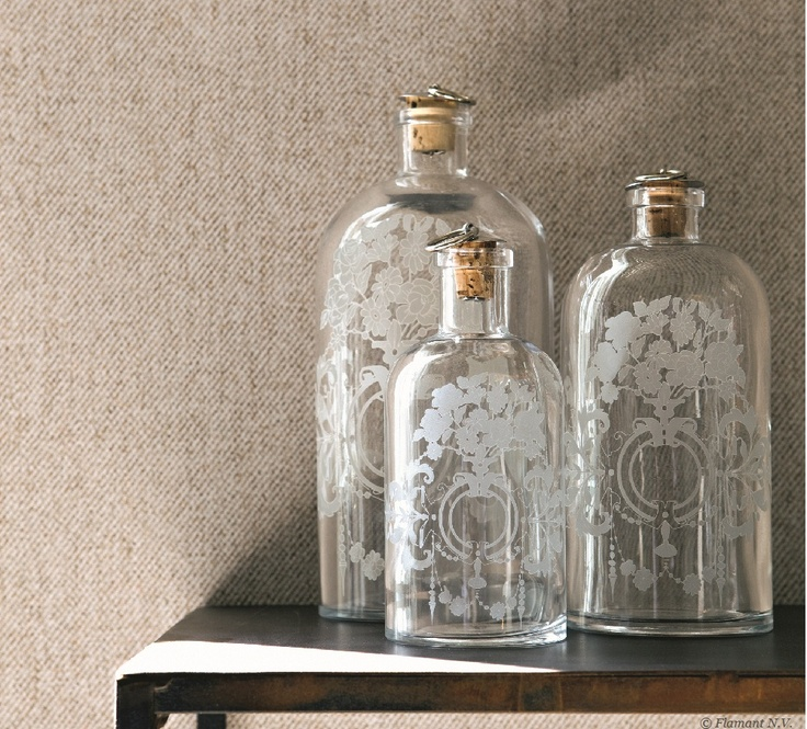 Beautiful stained glass bottles