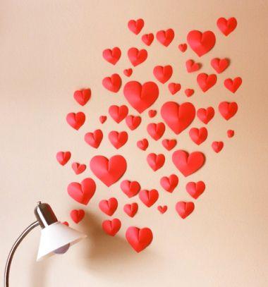 DIY paper heart wall - Valentine's day home decor // Szívecskés Valentin-napi papír fali dekoráció // Mindy - craft tutorial collection