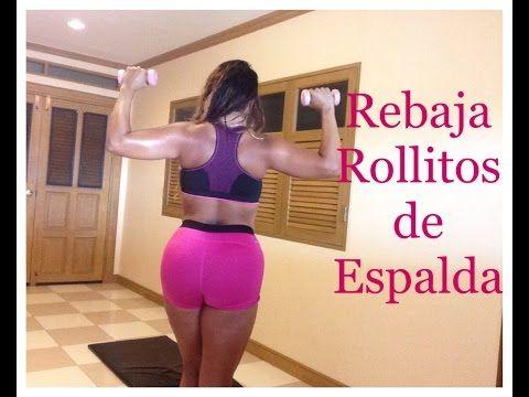 ELIMINAR ROLLITOS de ESPALDA - Curvy Girls Fitness - YouTube
