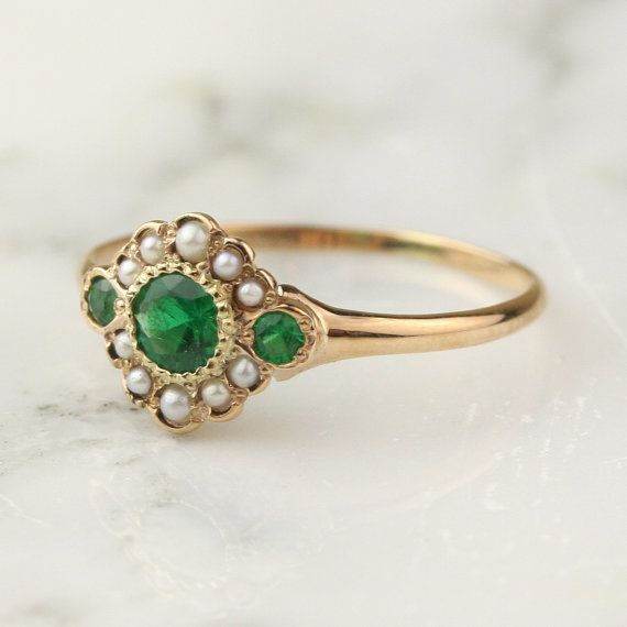 best 25 emerald ring vintage ideas on vintage