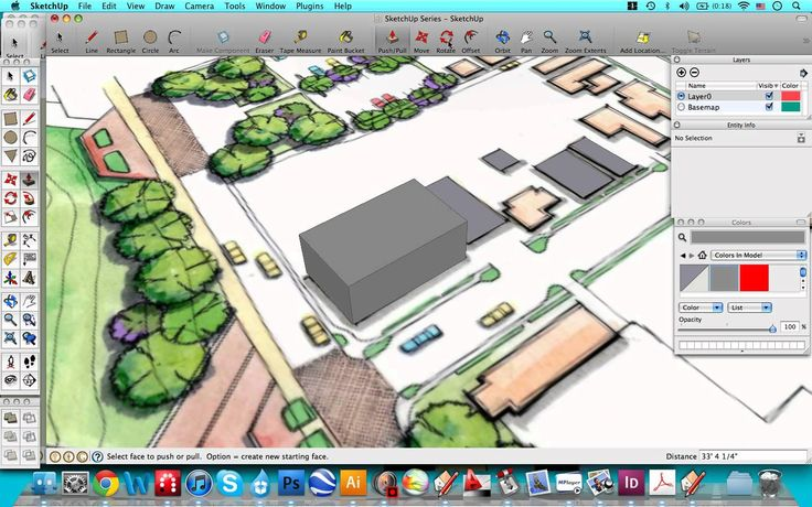 Just the Basics 2. Layers, Groups, and Staying Organized - SketchUp for Landscape Architects