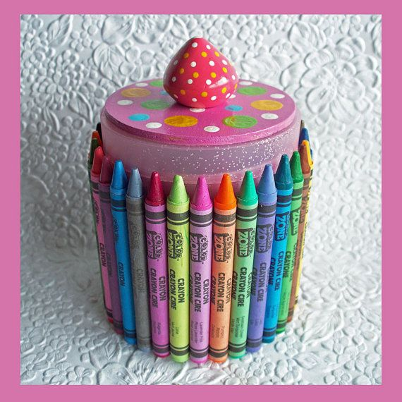 Too cute ;~D Crayon Organizer Pink by RFColorfulCreations on Etsy, $8.00 #onfireteam #lacwe #handmade