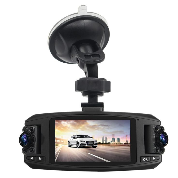 2.7 Inch HD Dual Lens Car DVR Video Camera Recorder Dash Cam Night Vison G-Sensor